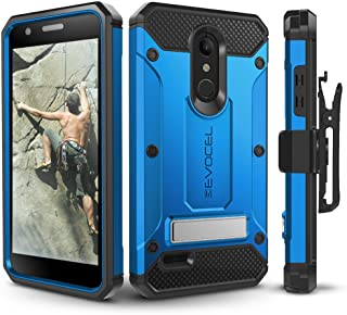 LG K30 / LG Premier Pro/LG Harmony 2 Case, Evocel Heavy Duty Protection with Glass Screen Protector, Rugged Holster, and Kickstand, Explorer Series Pro – Blue
