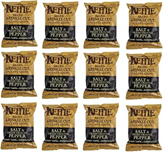Kettle Brand Potato Chips, Salt & Pepper, 2-Ounce Bags, (12 Count)
