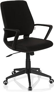 Hjh Office Estra Black Silla de oficina Negro (Black) 44x53x110 cm