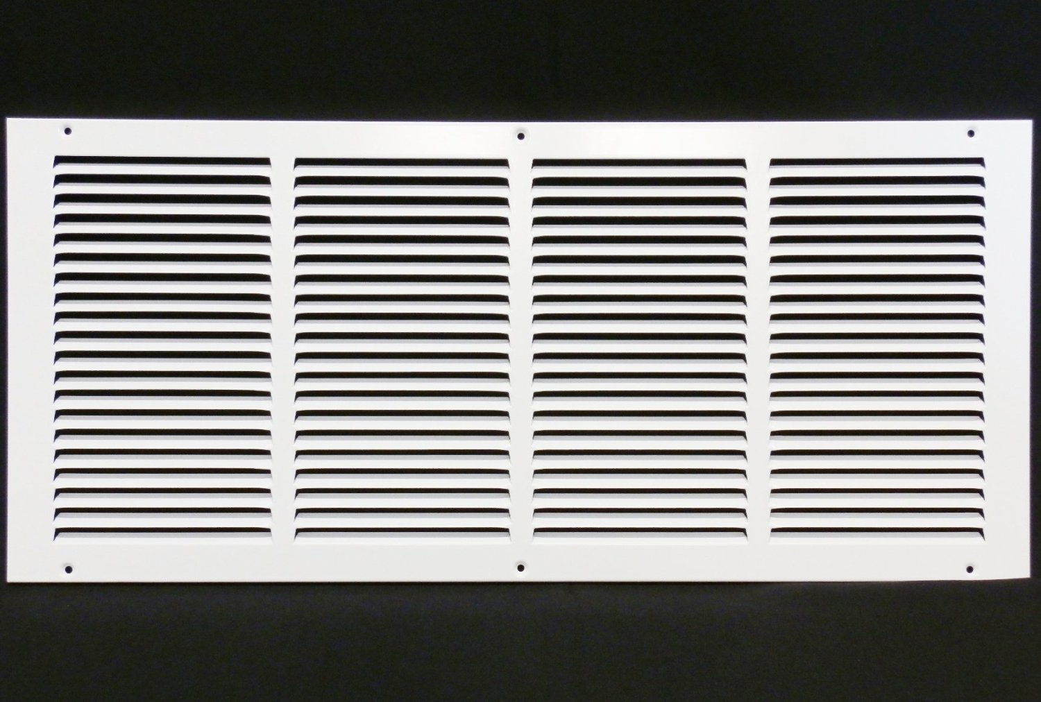 """24""""w X 10""""h Steel Return Air Grilles - Sidewall and Ceiling - HVAC Duct Cover - White [Outer Dimensions: 25.75""""w X 11.75…"""