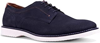 Carlos Santana Men's Bob Derby Lite Hybrid Suede Oxford Lace-up Dress Shoe