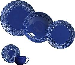Porto Brasil Ceramica Greek Dinnerware Set, Service for 4 (Navy)