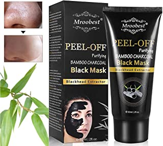 Blackhead Mask, Peel Off Mask, Blackhead Remover Mask, Face Mask with Activated Carbon, Purifying Black Face Mask, Deep Skin Clean Purifying Acne - 60ML