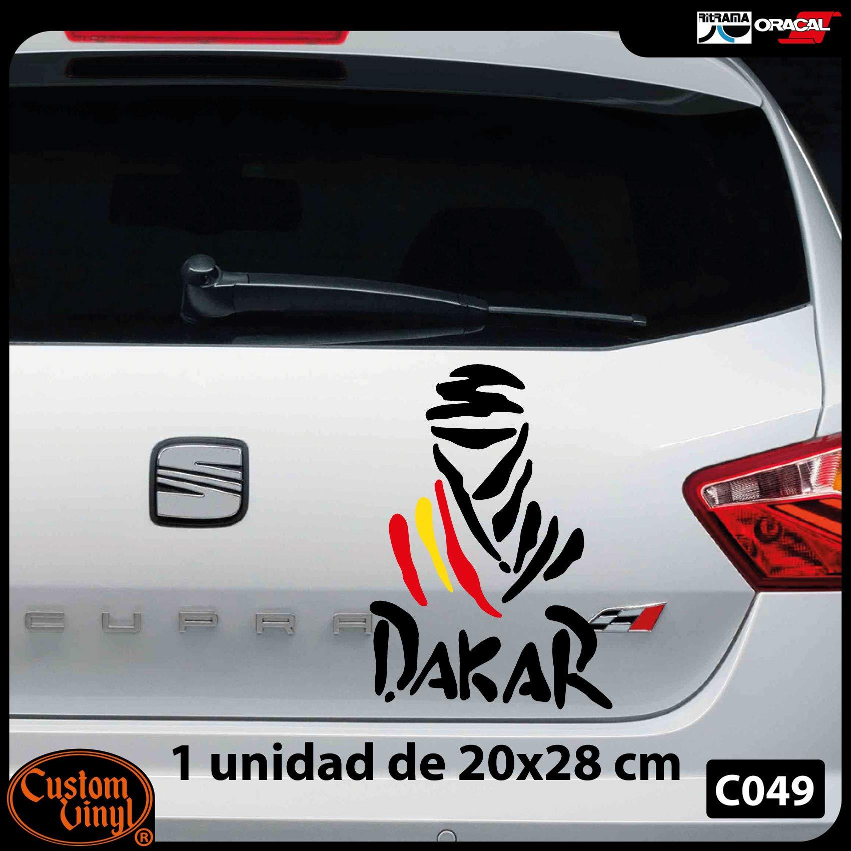 Custom Vinyl Pegatina Bandera España Desierto (Rojo, Mediana 15x21): Amazon.es: Coche y moto