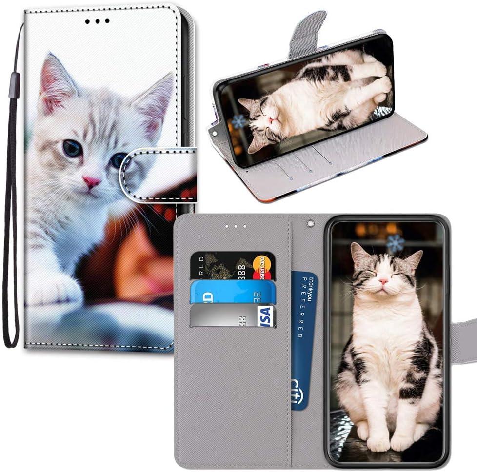 JZ Painted Wallet Funda PU Leather Flip Cover For para Xiaomi Redmi 6 Pro/Mi A2 Lite - Mirror Cat