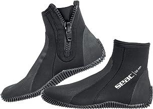 SEAC Seac Regular Unisex-Adult 5 mm Neopreen korte Duiklaarzen met Halfharde Zool en Hiel en Enkelbescherming