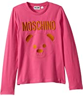 Moschino Kids - Long Sleeve T-Shirt w/ Embroidered Toy Bear (Big Kids)