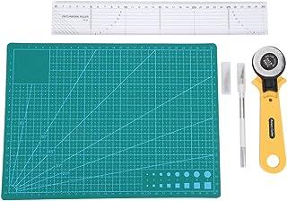 5pcs Tapis de Découpe pour Tissu Cuir Papier, Plaque de Découpe DIY Outils à Coudre