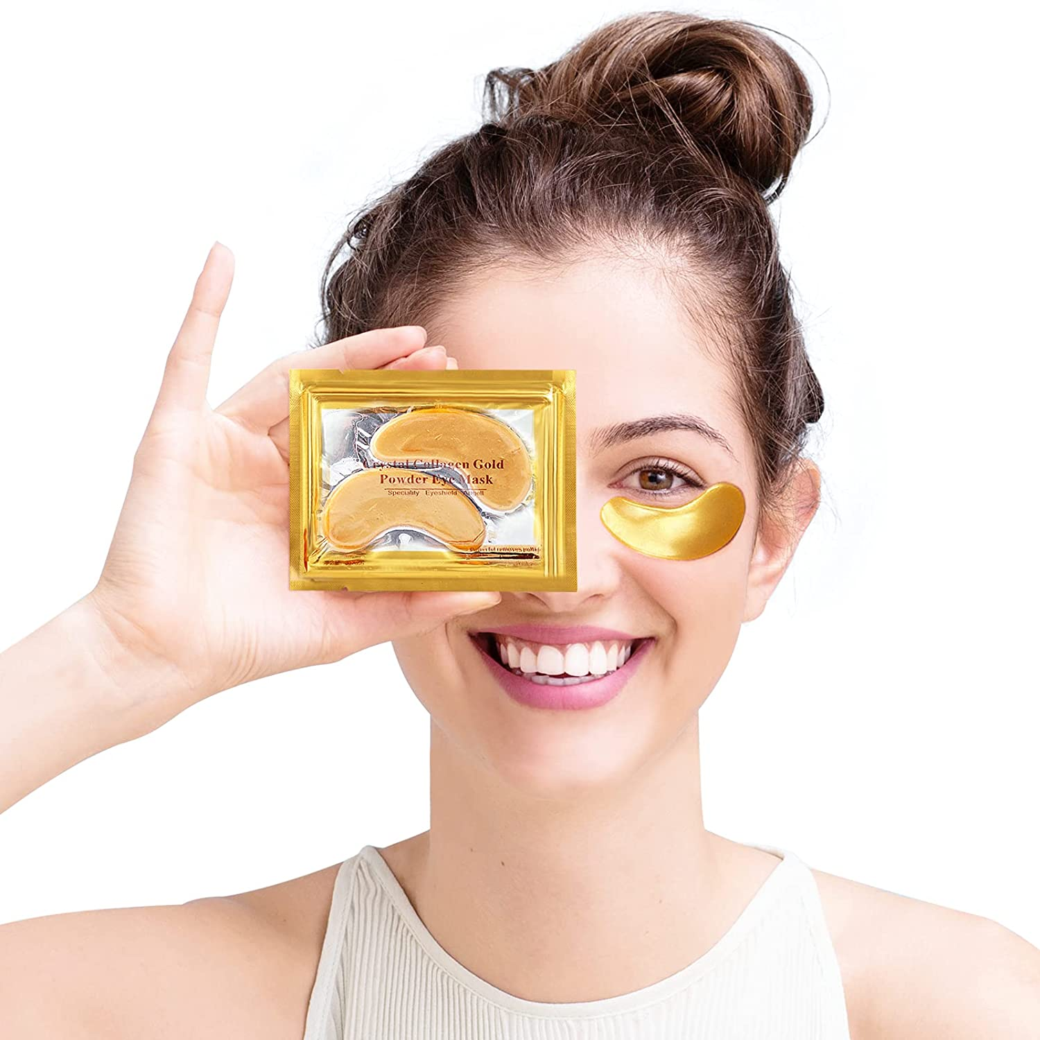 Under Eye Patches Max 79% OFF 24K Pads Bags Mask Gold Omaha Mall