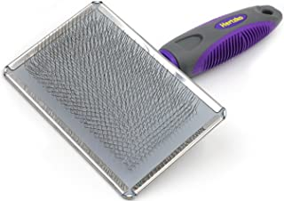 Hertzko Slicker Brush for Dogs and Cats Pet Grooming Dematting Brush Easily Removes Mats, Tangles, and Loose Fur from The ...