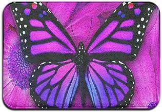 Purple Butterfly Custom Doormat Mat Rug Carpet For Living Room Indoor/Outdoor 23.6 X 15.7 Fabric Top