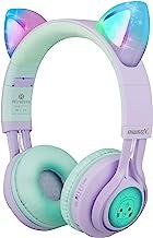 Kids Headphones, Riwbox CT-7S Cat Ear Bluetooth Headphones 85dB Volume Limiting,LED Light Up Kids Wireless Headphones Over...