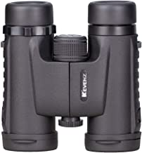 Kevenz 8x32 Compact Binoculars with Low Light Night Vision, Large Eyepiece High Power Waterproof Binocular Easy Focus for Outdoor Hunting, Bird Watching, Traveling (Black, 8 X 32)