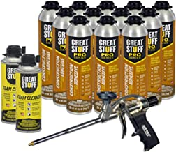 Dow Great Stuff PRO Wall and Floor Kit, 12-26.5 oz Wall & Floor, AWF Pro Foam Gun, 2 Cleaners