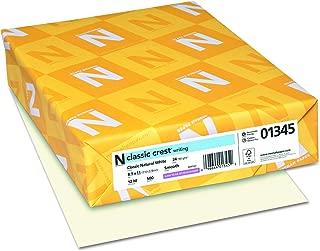 Neenah Paper 01345 Classic Crest Premium Paper, 24 lb, 8.5 x 11 Inches, White, 500 Sheets per Ream, Classic Natural White