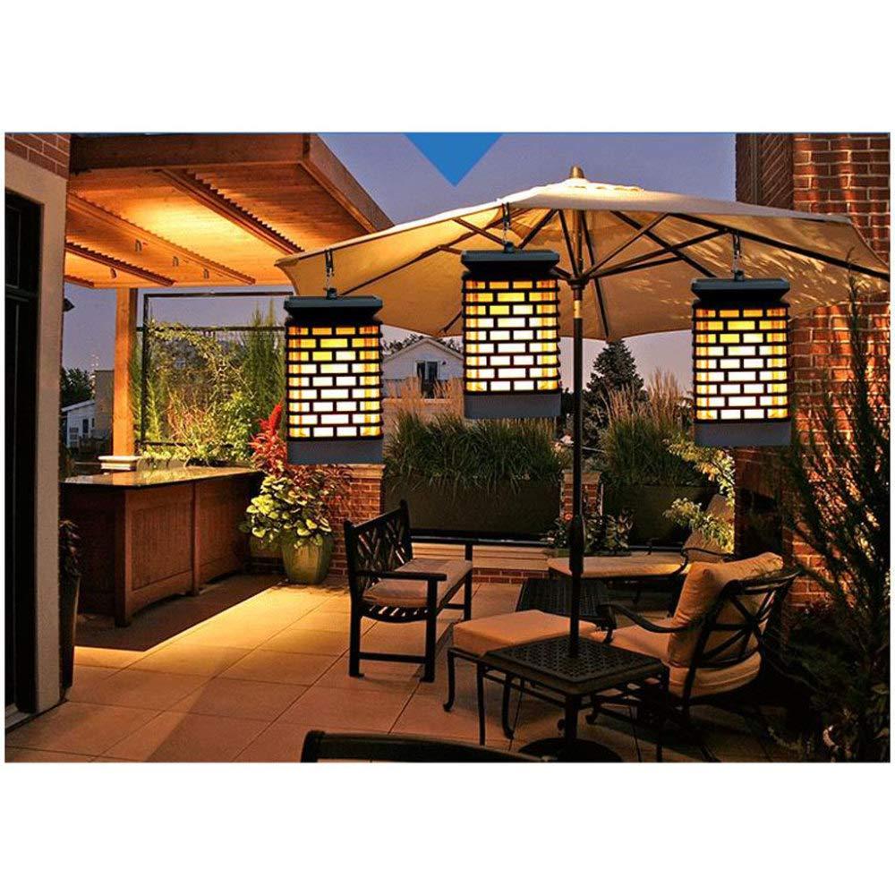 liangh Lámpara De Pared Llama Sensor Luz Llamas Impermeable Lámparas Solares con Parpadeo Llama para Jardín Camino Deck Patio.: Amazon.es: Hogar