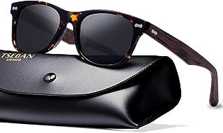 T.SEBAN Retro Polarized Sunglasses for Women Classic Vintage Designer Style Acetate Frame UV400 Protection