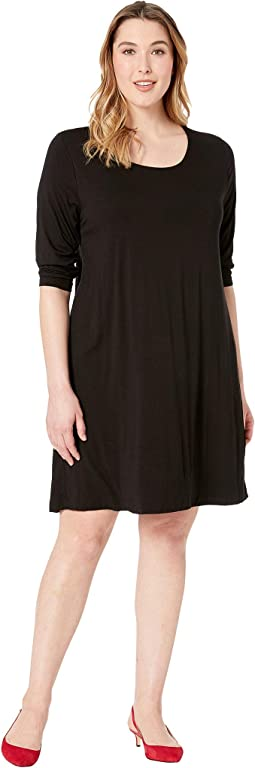Plus Size 3/4 Sleeve T-Shirt Dress