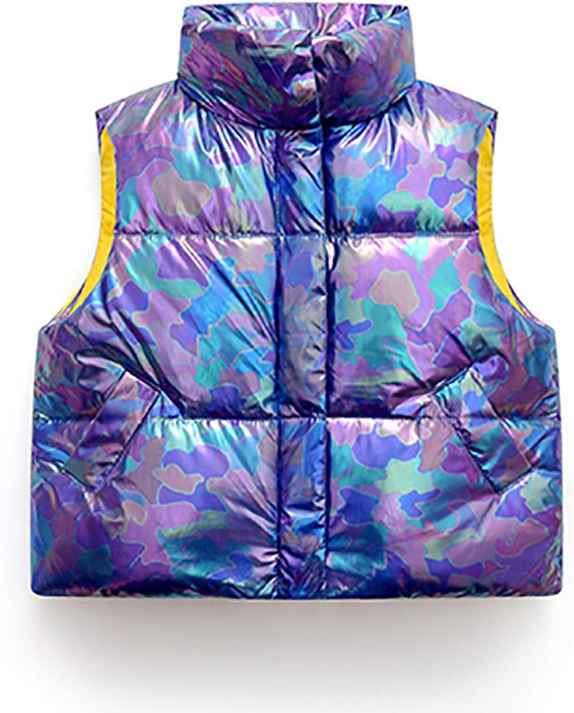 Kids Boy Girl Down Vest Winter Colorful Sleeveless Puffer Jacket Warm Down Coat 4-13T