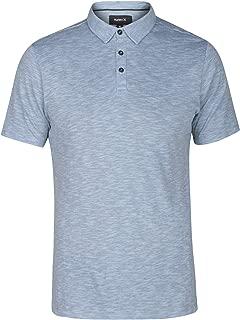 Hurley Men's Mini Striped Slub Textured Short Sleeve Polo