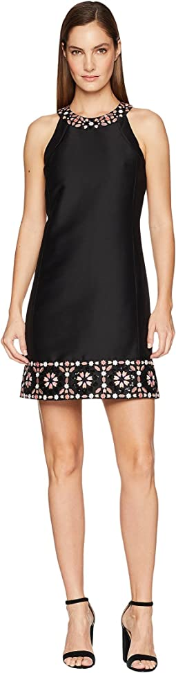 Mosaic Embellished Shift Dress