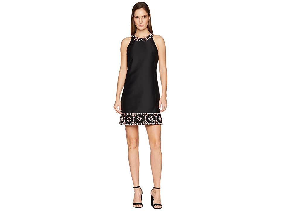 Kate Spade New York Mosaic Embellished Shift Dress (Black) Women