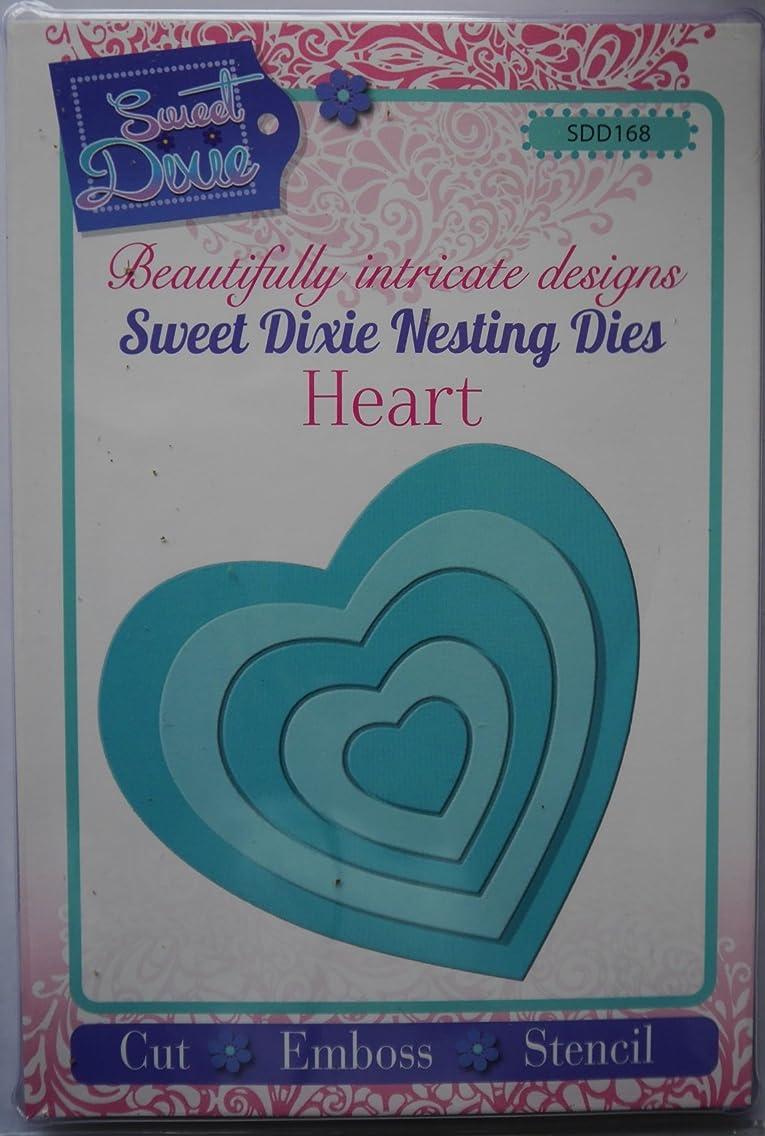 Sweet Dixie Nesting Heart Die, Grey