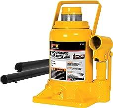 Performance Tool W1643 12-Ton (24,000 lbs.) Heavy Duty Shorty Hydraulic Bottle Jack   Lift Range: 6-5/8