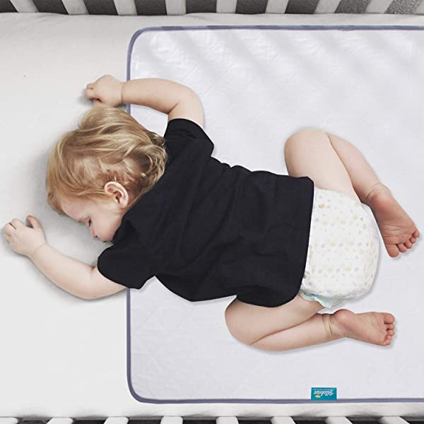 Waterproof Protector 27 X 36 Anti Slip Durable Wateproof Pad Mat For Baby Pack N Play Crib Mini Crib Ultra Soft Reusable Lifesaver For Toddler Kid Bed As Sheet Protector White