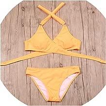 2018 Sexy Criss Cross Bikini Brazilian Bandage Swimsuit Women Push Up Swimwear Set Wrap Top