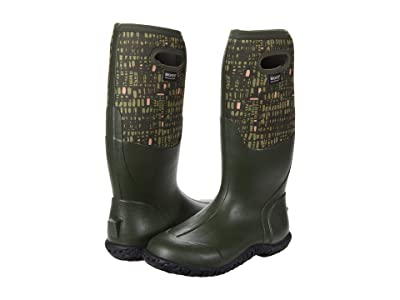 Bogs Mesa Windows (Dark Green Multi) Women