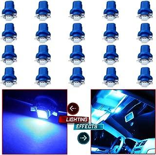 cciyu 20x B8.5D 1SMD 5050 Car Blue LED Instrument Indicator Light C5W Side Interior Lamp Bulb
