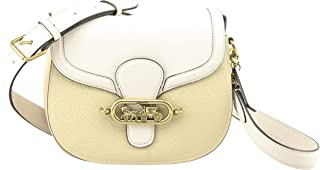 Jade Saddle Crossbody Bag in Cream Multi Leather