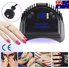Vinteky 64W LED Nail Dryer,Professional Quikly Dry Cordless LED Nail Curing Lamp for UV LED Gel Nail Polish Nail Tool Salon Tool With Lifting Handle Touch Sensor LCD Screen (Black)