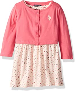 U.S. POLO ASSN. girls Dress With Sweater or Jacket Casual Dress