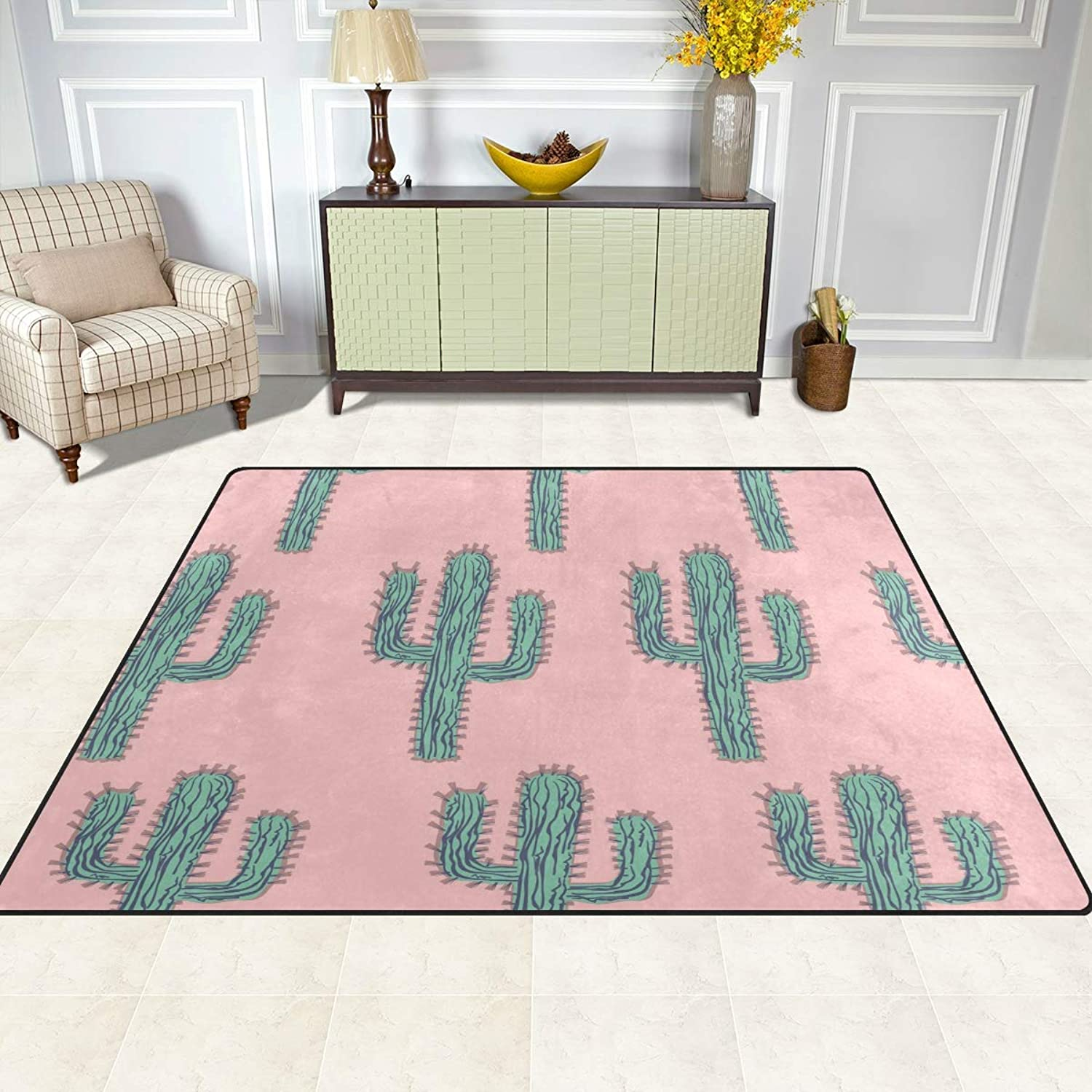 FAJRO Green Cactus Forest Rugs for entryway Doormat Area Rug Multipattern Door Mat shoes Scraper Home Dec Anti-Slip Indoor Outdoor