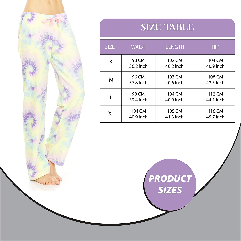 Pajama Pants for Women Comfy Plush Lounge Pant Printed Casual PJ Sleep Bottoms