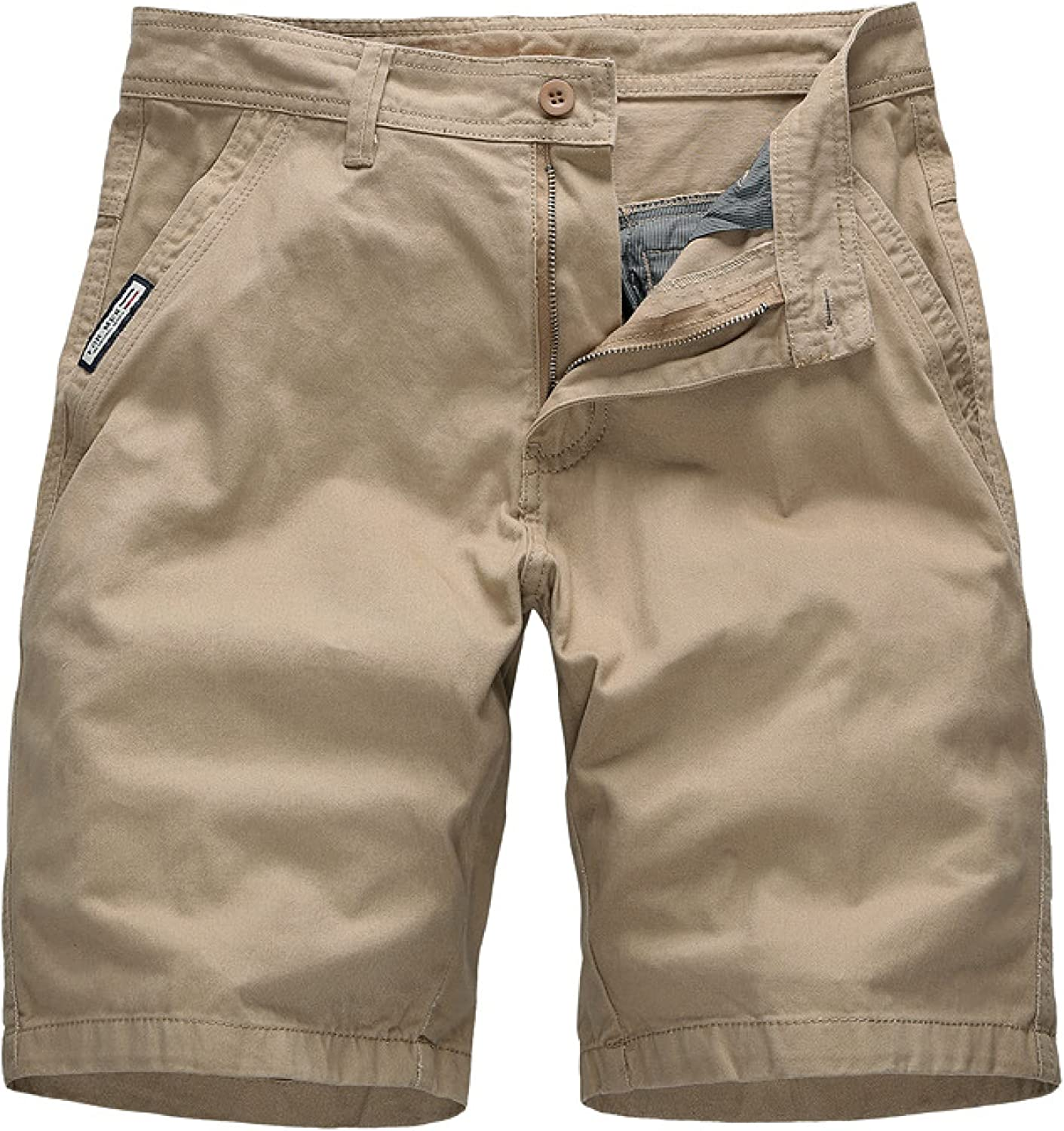 Men's Classic Regular Fit Shorts Ligh Don't miss the campaign Solid Casual Color Fashion 2021 new