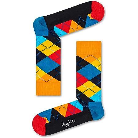 Happy Socks Argyle Sock Calcetines, Multicolor (Multicolour 010), 7/10 (Talla del Fabricante: 41-46) para Hombre