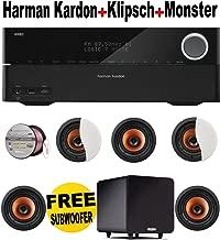 Harman Kardon AVR 2700 7.1-Channel 100-Watt Network-Connected Audio/Video Receiver + 5 Klipsch - CDT5650CII + POLK AUDIO - PSW111 + Monster Cable - PLATXPMS50 Bundle