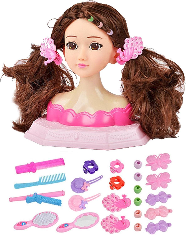 daiyanjing Girls Doll Head włosów Store Stylizacja Playset Max 42% OFF
