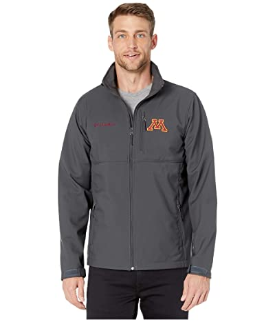 Columbia College Minnesota Golden Gophers Collegiate Ascendertm Softshell Jacket (Shark) Men