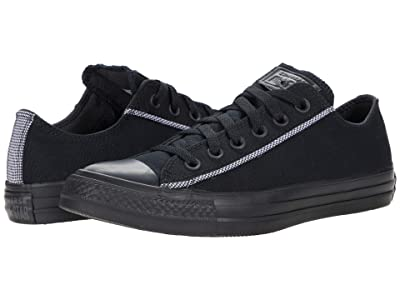 Converse Chuck Taylor All Star Houndstooth Hits Ox (Black/Black/White) Athletic Shoes