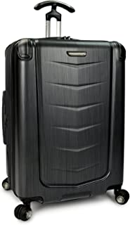 Traveler's Choice Silverwood 100% Polycarbonate Durable Hardshell Expandable Dual Cyclone Wheels 26-inch Medium Checked Sp...
