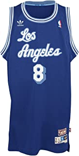 adidas Kobe Bryant Los Angeles Lakers Blue Throwback Swingman Jersey