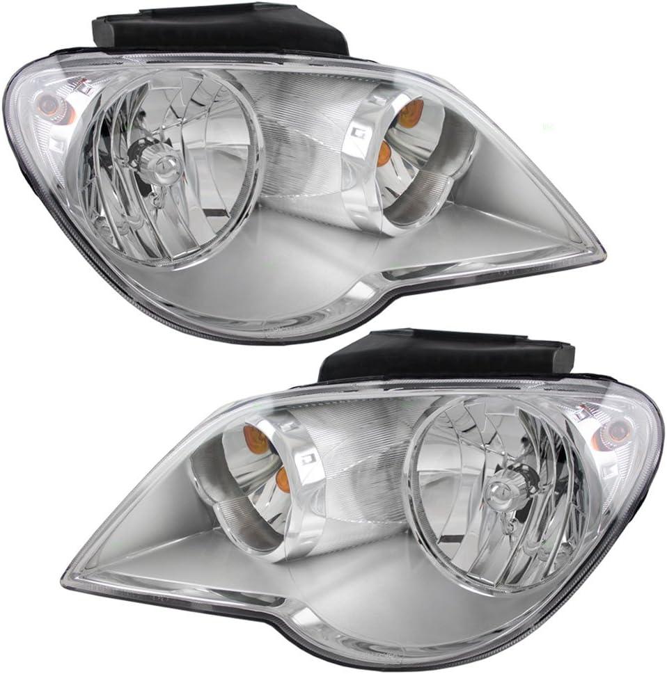 Brock Replacement 爆買い送料無料 Set Driver and Co 品質保証 Headlights Passenger Halogen