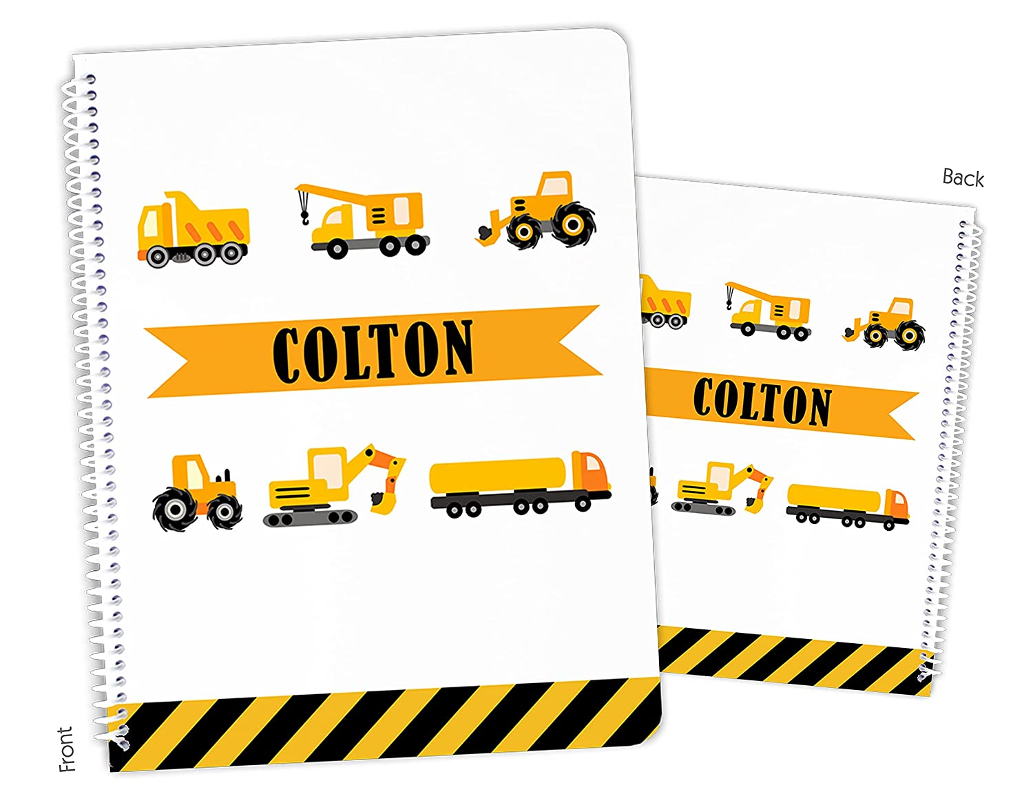 Personalized Construction Max 54% OFF Trucks Ranking TOP14 Spiral Sketchboo Notebook Bound