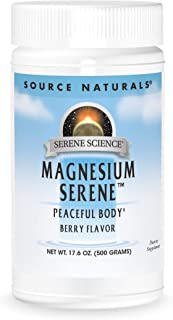 Source Naturals Serene Science Magnesium Serene Berry Flavored, Peaceful Body, 17.6 Ounces