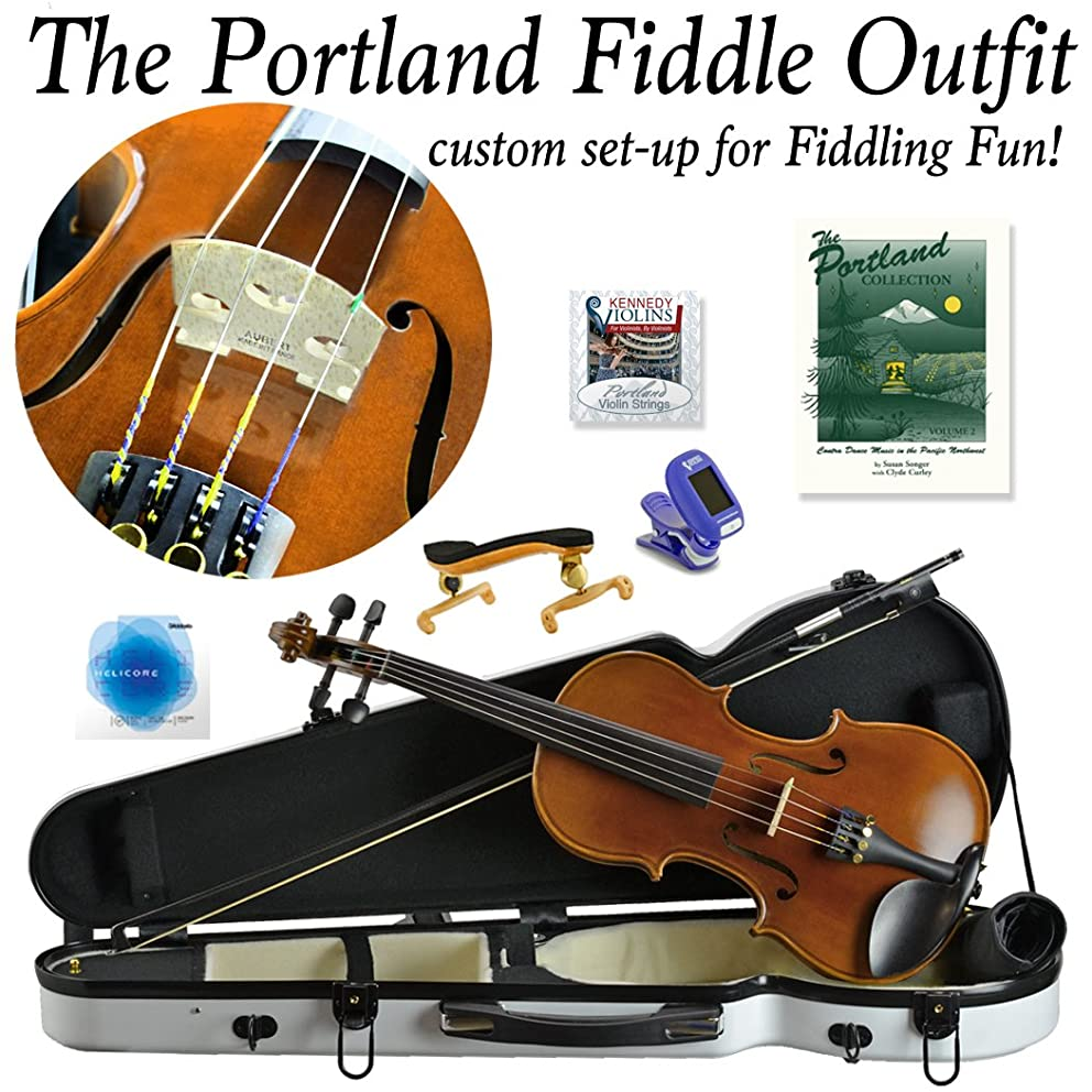 Portland Fiddle Outfit. Custom set-up for fiddling fun! (White)