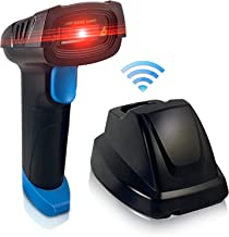Central Essentials Wireless Barcode Scanner with USB Charging Cradle - Long Distance Transmission - 1D Cordless Portable Laser Automatic Handheld Barcode Reader for UPC, Inventory, Retail, Warehouse